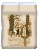 Ghost In The Graveyard Duvet Cover