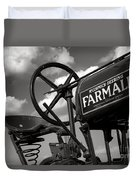 Ghost Of Farmall Past Duvet Cover