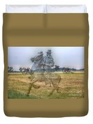 Ghost Of Gettysburg Duvet Cover by Randy Steele