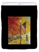 Ghost Of Lincoln Highway Duvet Cover