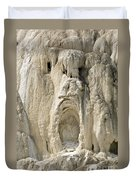 Ghost Of Mammoth Hot Springs Duvet Cover