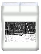 Ghost On A Swing Duvet Cover