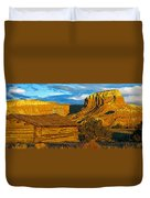 Ghost Ranch At Sunset, Abiquiu, New Duvet Cover