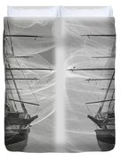 Ghost Ship - Gently Cross Your Eyes And Focus On The Middle Image Duvet Cover