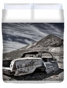 Ghost Town Junked Car Duvet Cover