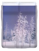 Ghost Trees Yellowstone National Park Duvet Cover