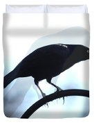 Ghosted Grackle Duvet Cover
