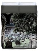 Ghostly Cemetary Duvet Cover
