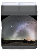 Ghostly Glows Of A Truly Dark Sky Duvet Cover