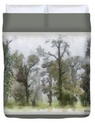 Ghostly Images Duvet Cover