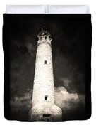 Ghostly Lighthouse Duvet Cover