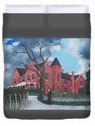 Ghostly Nun Of Borley Rectory Duvet Cover