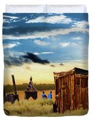 Ghostly Town 2 Duvet Cover