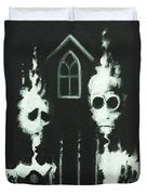 Ghosts Of American Gothic Duvet Cover