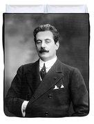 Giacomo Puccini, Italian Composer Duvet Cover