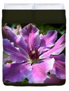 Giant Clematis Duvet Cover