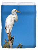Giant Egret Duvet Cover