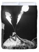 Giant Flamethrowing Praying Mantis Duvet Cover