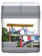 Giant Folk-art Weathervane 2 Duvet Cover