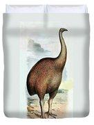 Giant Moa Dinornis Ingens, Cenozoic Bird Duvet Cover