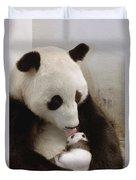 Giant Panda Ailuropoda Melanoleuca Xi Duvet Cover by Katherine Feng