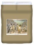 Giant Penguins, C1900 Duvet Cover