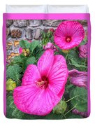 Giant Pink Hibiscus Duvet Cover