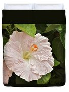 Giant Pink Hibiscus I Duvet Cover