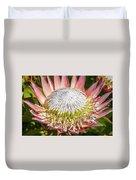 Giant Pink King Protea Flower Duvet Cover