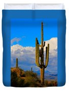 Giant Saguaro In The Southwest Desert  Duvet Cover