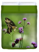 Giant Swallowtail Butterfly On Verbena Duvet Cover