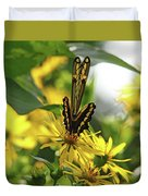 Giant Swallowtail Wings Folded Duvet Cover