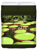 Giant Water Lily Platters Duvet Cover