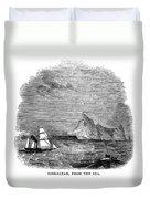 Gibraltar, 1843 Duvet Cover