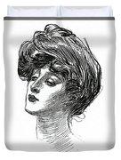 Gibson Girl 1902 Duvet Cover