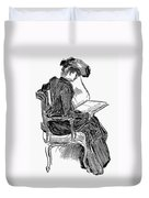 Gibson: Woman Reading Duvet Cover
