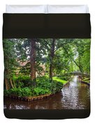 Giethoorn Greenery And Bridges. Venice Of The North Duvet Cover