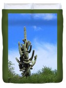 Gigantea Saguaro Old And Strong Duvet Cover