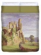 Gight Castle, 1851 Duvet Cover
