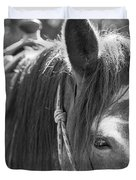 Gillagan The Horse In Glacier National Park   Duvet Cover