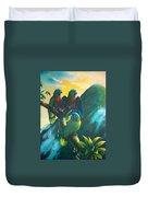 Gimie Dawn 1 - St. Lucia Parrots Duvet Cover