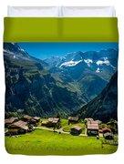 Gimmelwald In Swiss Alps - Switzerland Duvet Cover