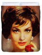 Gina Lollobrigida, Vintage Hollywood Actress Duvet Cover