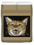 Ginger Cat Eyes Duvet Cover