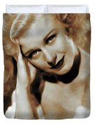 Ginger Rogers, Actress Duvet Cover
