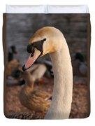 Ginger Swan Duvet Cover