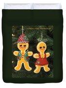 Gingerbread Christmas Ornaments Duvet Cover