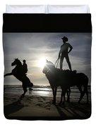 Horseback Riding Duvet Cover