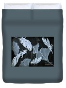 Ginko Leaves And Feathers Duvet Cover
