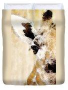 Giraffe Art - Side View Duvet Cover